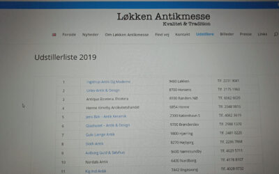 List of Exhibitors for Løkken Antique Fair 2019